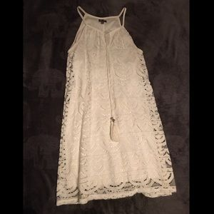 Short white cute spring dress